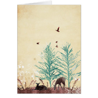 Peace On Earth Deer Card