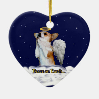 Peace on Earth Dott Angel Heart Ornament