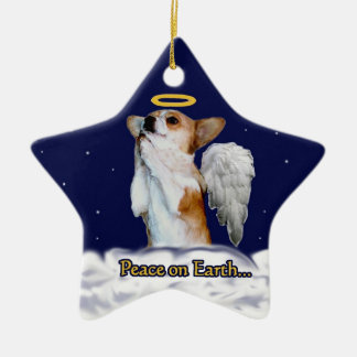 Peace on Earth Dott Angel Star Ornament