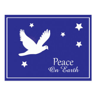 Peace on Earth Dove Christmas Postcard