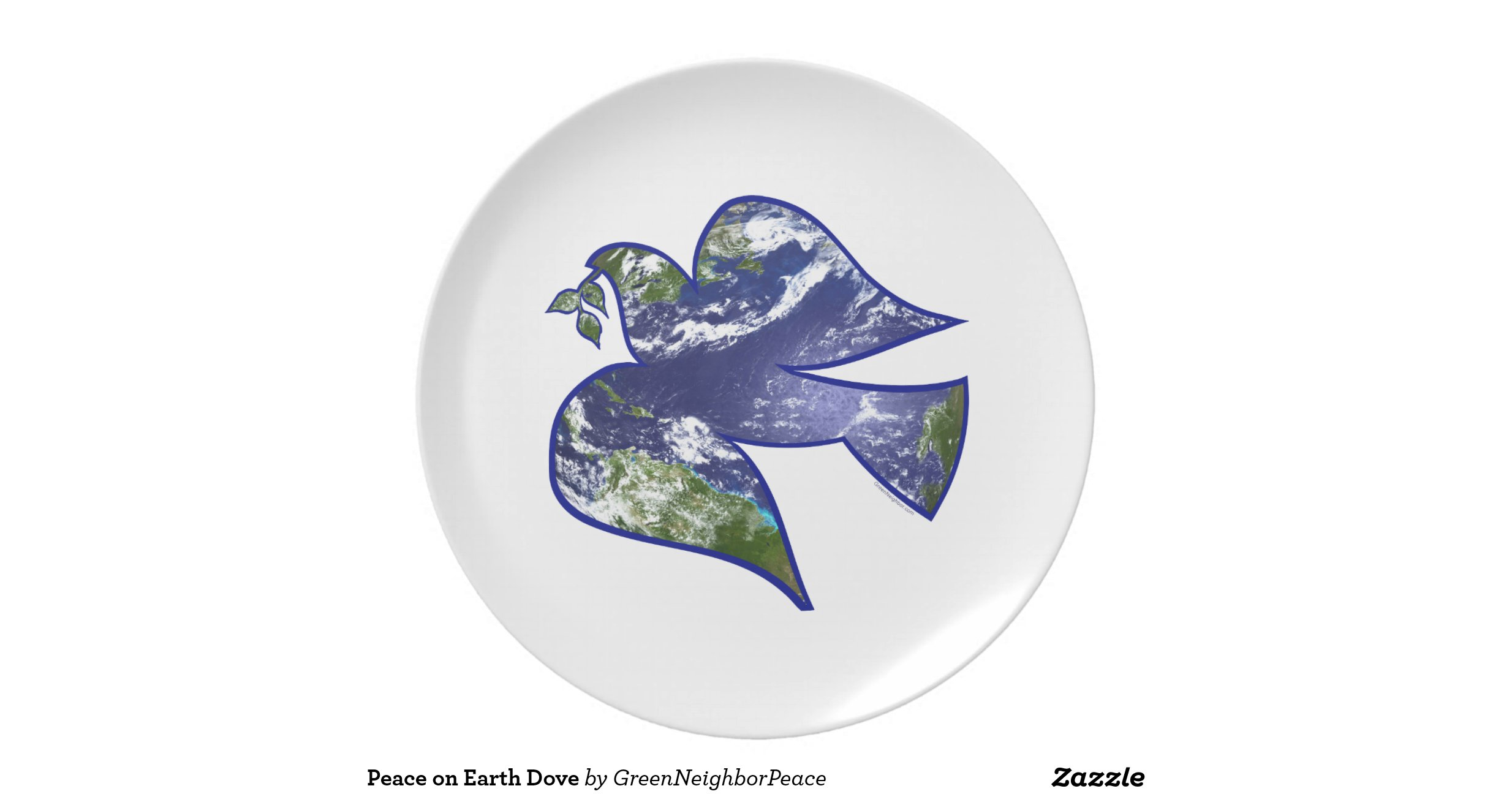 peace on earth dove dinner plates zazzle