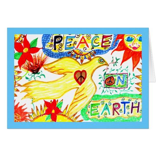 Peace on Earth Dove Greeting Card