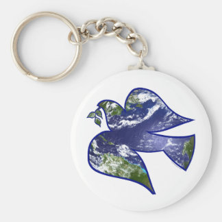 Peace on Earth Dove Key Ring