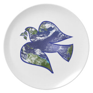 Peace on Earth Dove Party Plate