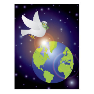 Peace on Earth Dove Postcard