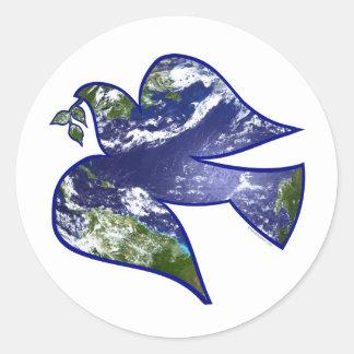 Peace on Earth Dove Sticker