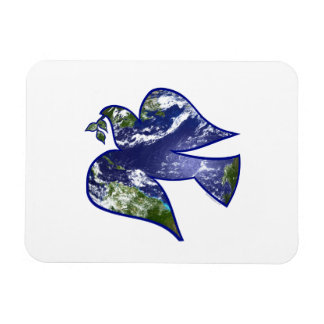 Peace on Earth Dove Vinyl Magnets