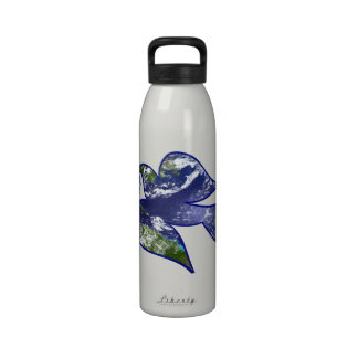 Peace on Earth Dove Water Bottles