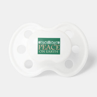Peace On Earth Baby Pacifier