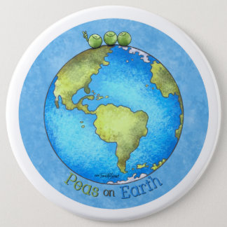 Peace on Earth - Earth day 6 Cm Round Badge
