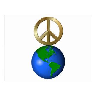 Peace On Earth Fun Rebus Holiday Greeting Postcard