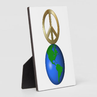 Peace on Earth Fun Rebus Style Word Puzzle Display Plaque