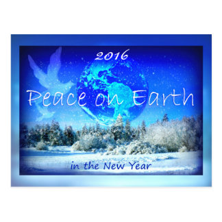 Peace on Earth Happy New Year's Day 2016 Postcard