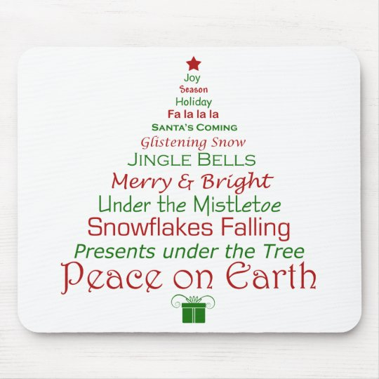 Peace on Earth Holiday Mousepad