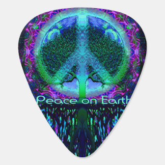 Peace on Earth in Blue and Green Plectrum