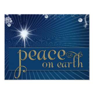 Peace on earth ... in heavenly peace 11 cm x 14 cm invitation card