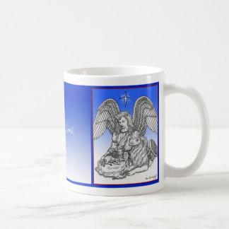 Peace on Earth, Lion, Lamb & Angel. Coffee Mug