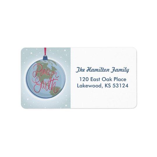 Peace on Earth Ornament Address Label