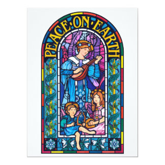 Peace on Earth Pre-Raphaelite Christmas invitation