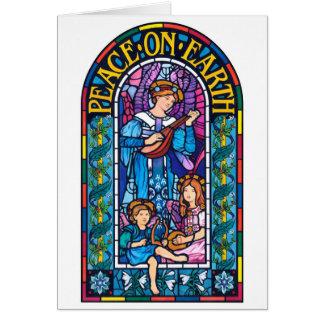 Peace on Earth Pre-Raphaelite style Christmas card