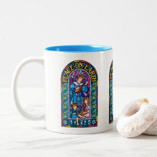 Peace-on-Earth PreRaphaelite Xmas mug 325ml
