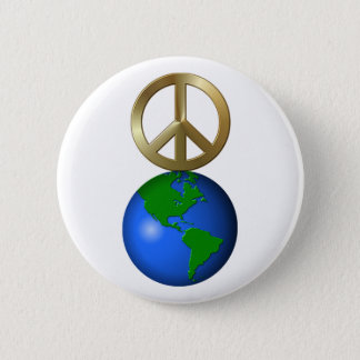 Peace on Earth Rebus Word Puzzle 6 Cm Round Badge