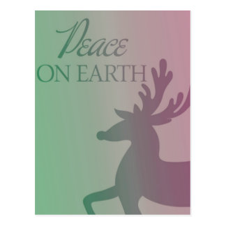 Peace On Earth Reindeer Postcard