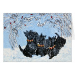 Peace On Earth Scotties Greeting Card