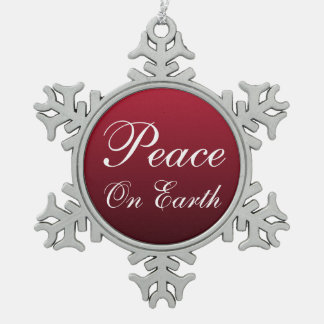 Peace on Earth Snowflake Christmas Ornament