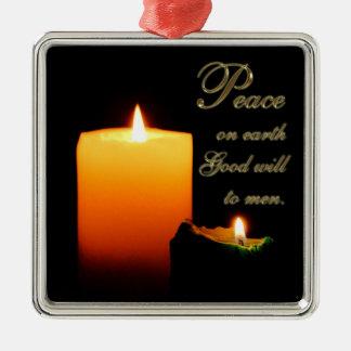 Peace on Earth Square Ornament