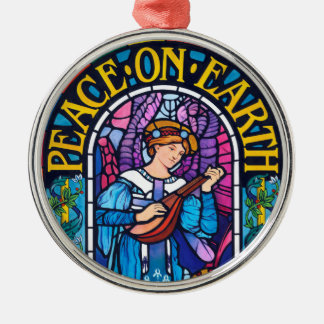 Peace on Earth stained glass ceramic decoration