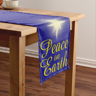 Peace on Earth Star Holiday Table Runner
