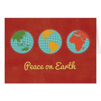Peace on Earth-Three World Views Card