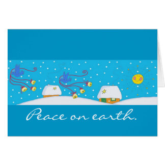 Peace on Earth to Personalize Greeting Card
