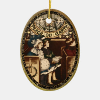 Peace on Earth Vintage Christmas Ornament