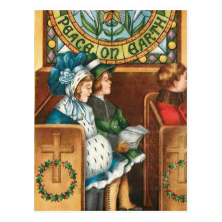 Peace on Earth Vintage Christmas Postcard