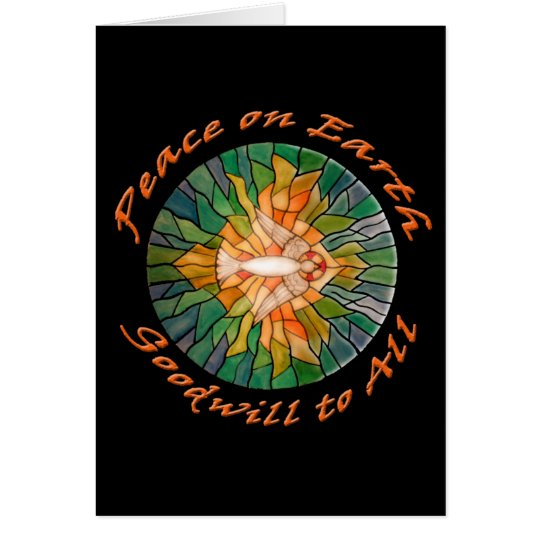 Peace on Earth with Stained Glass Design Cards