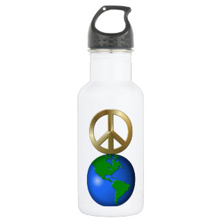 Peace on Earth Word Puzzle 532 Ml Water Bottle