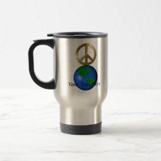 Peace on Earth Word Puzzle Stainless Steel Travel Mug