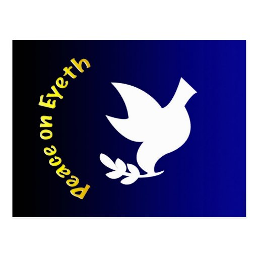 Peace On Eyeth button Post Card