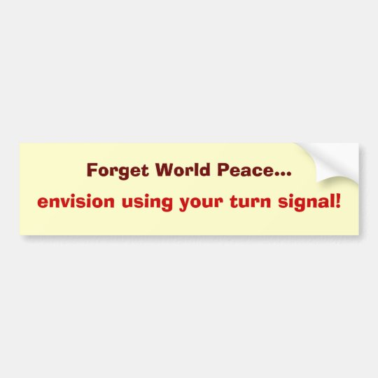 peace on the road bumper sticker