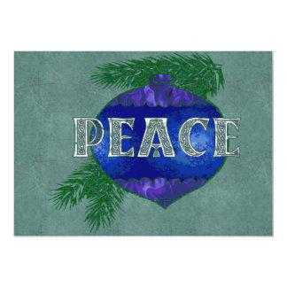 Peace Ornament 13 Cm X 18 Cm Invitation Card