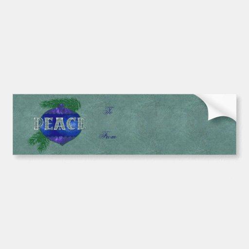 Peace Ornament Bumper Stickers