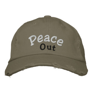 """""""Peace Out"""" Cap Embroidered Cap"""