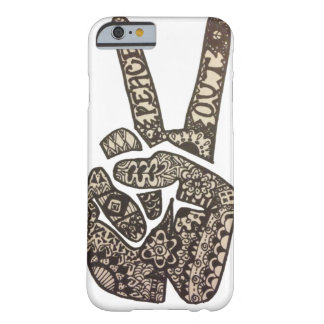 """Peace Out"" Design Barely There iPhone 6 Case"