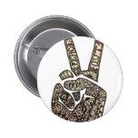 """Peace Out"" Design Pinback Button"