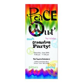 Peace Out Graduation Invitation