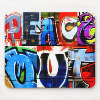 Peace Out Graffiti Trains Mousepad