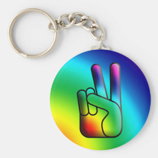 Peace Out Hippie Keychain