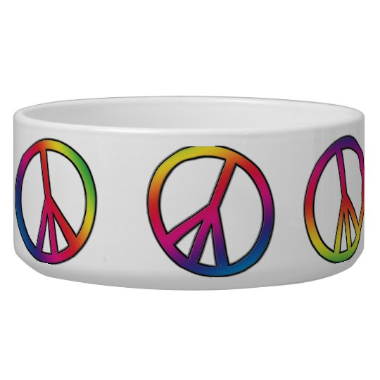 Peace Out Pet Bowls
